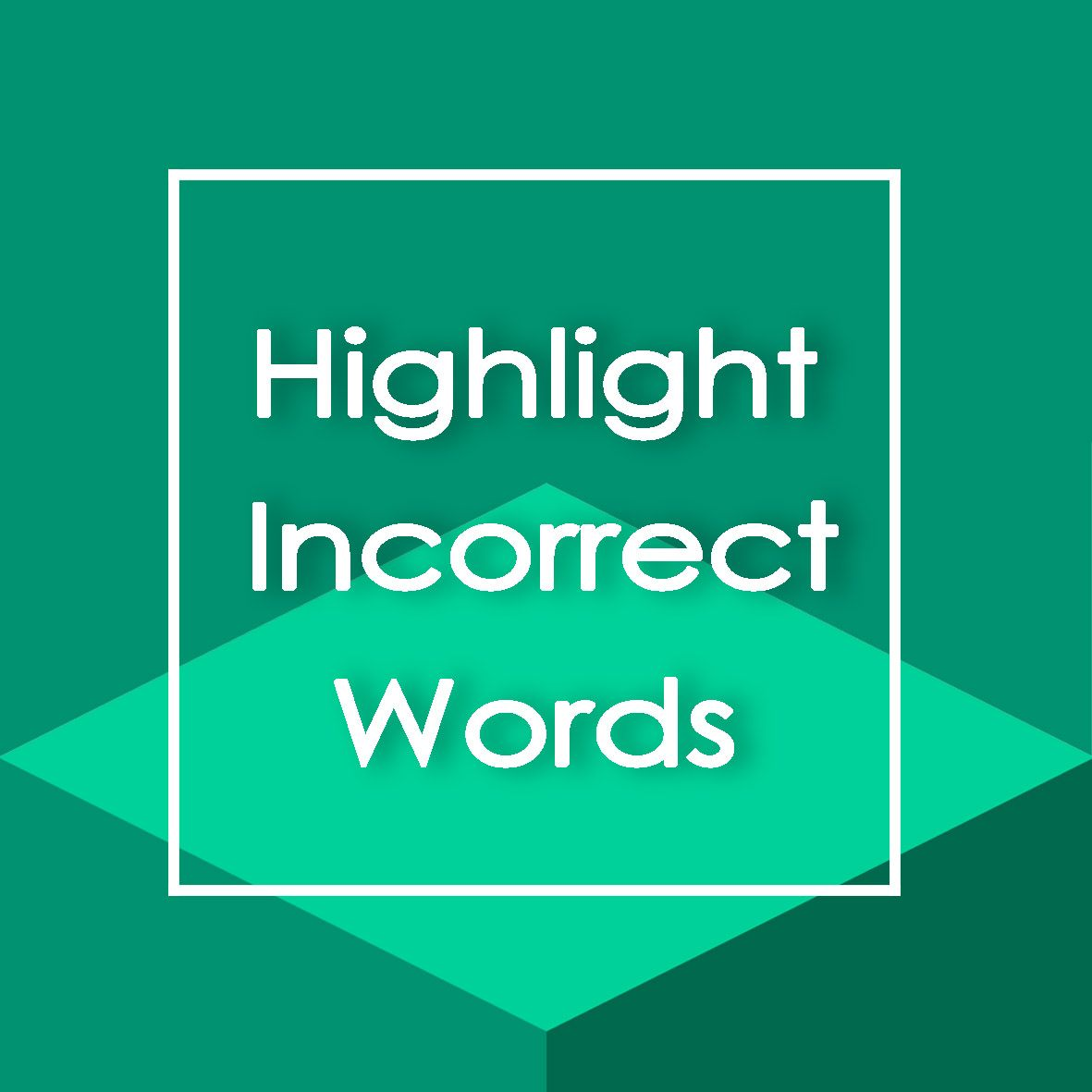 معرفی بخش Highlight Incorrect Words