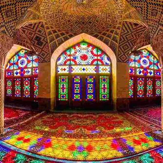 The Pink Mosque In Iran
