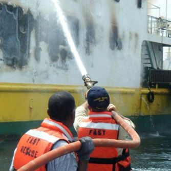 Ferry Causes Fire