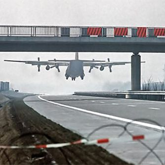 Plane on a Motorway